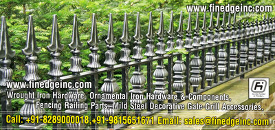 wrought iron products and accessories manufacturers exporters suppliers India http://www.finedgeinc.com +91-8289000018, +91-9815651671
