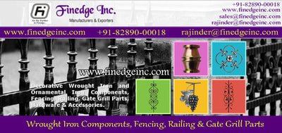 ornamental iron gates hardware accessories parts manufacturers exporters suppliers India http://www.finedgeinc.com +91-8289000018, +91-9815651671