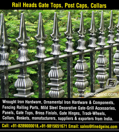 fencing hardware for gate grills manufacturers exporters suppliers India http://www.finedgeinc.com +91-8289000018, +91-9815651671